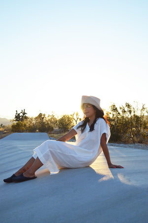 Shop on the Mesa - Sleeveless Caftan Dress in Ivory