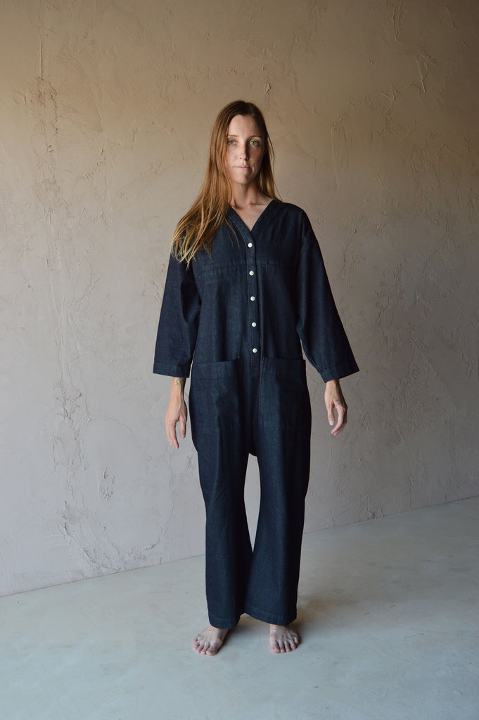 Ilana Kohn - Tuck Coverall in Denim