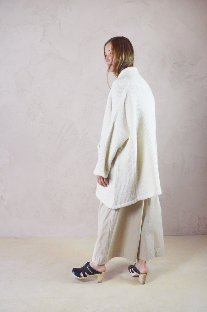 Atelier Delphine - Alpaca Haori Coat in Cream