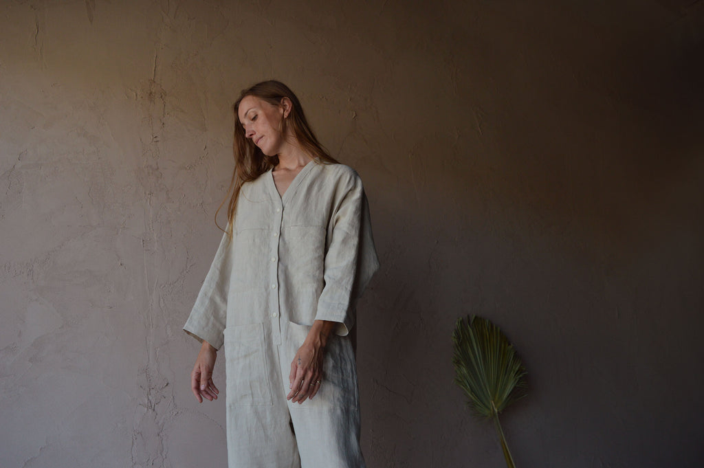 Ilana Kohn - Tuck Coverall in Oat