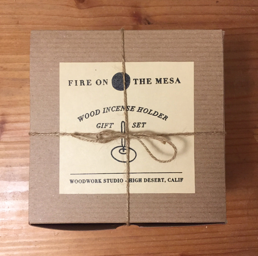 Fire on the Mesa - Walnut Incense Holder gift set