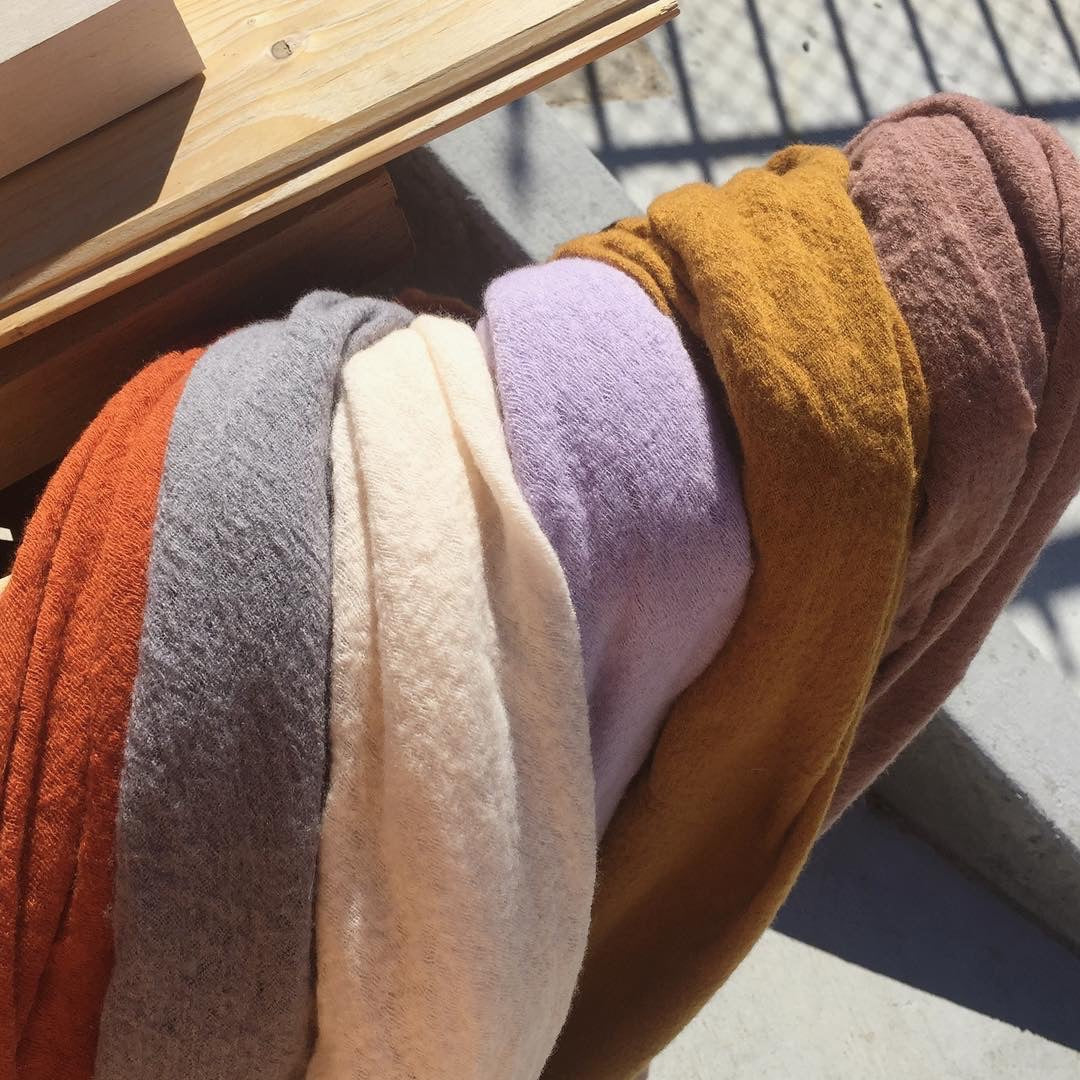 Wool Cloud Dyed Scarves