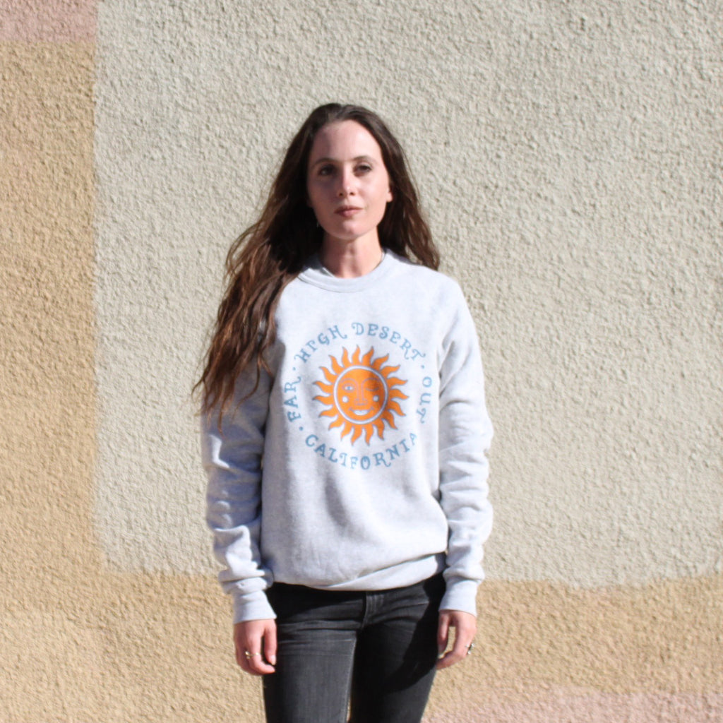 Far Out Sweat Shirt - Lt Grey
