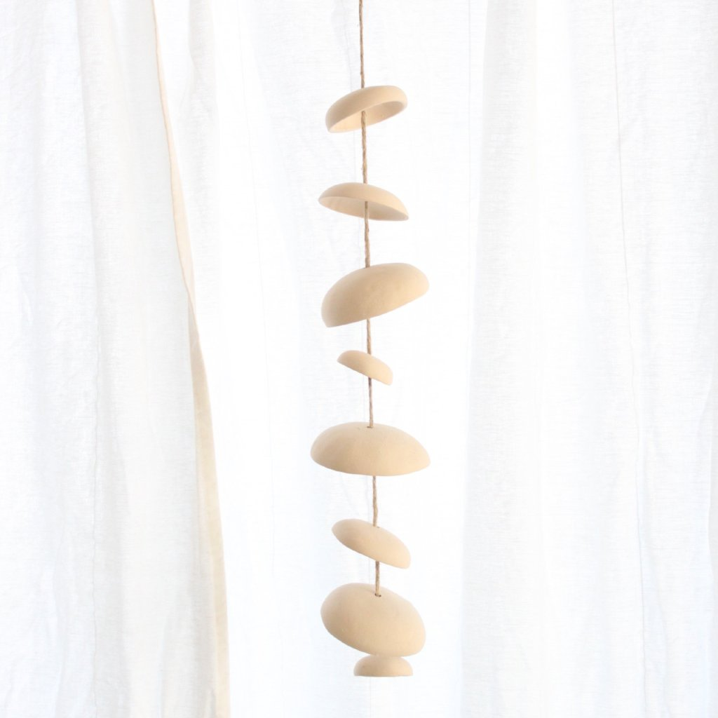 Mud Puppy Ceramic Moon Chimes - Short Strand