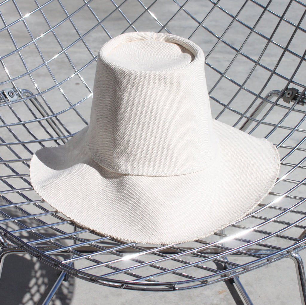 Natural Canvas Floppy Brim Hat