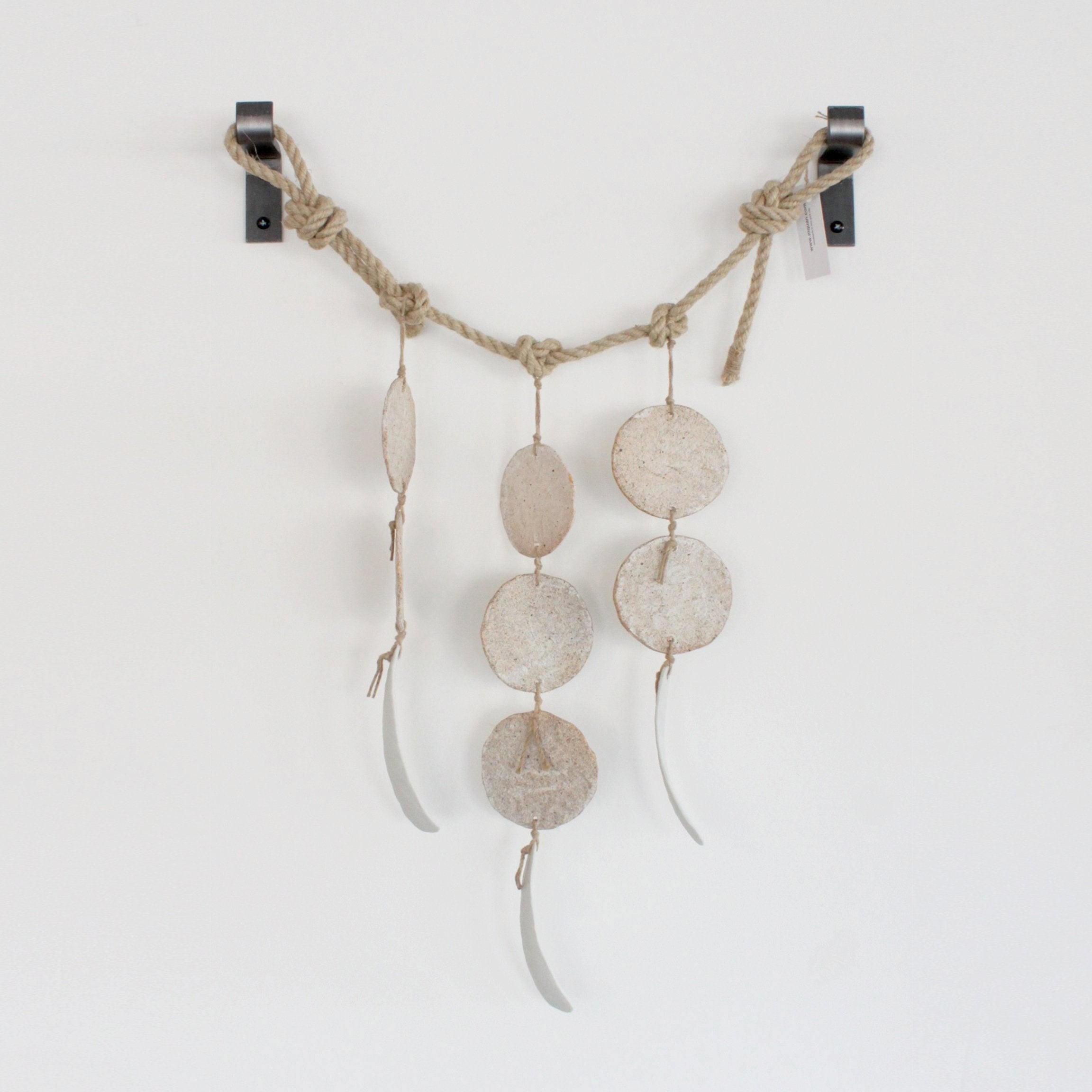 MQuan White Disc Featherbones Wallhanging