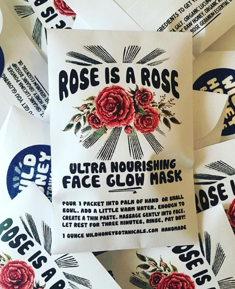 Gem & Honey Rose Face Mask