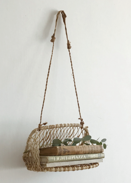 Hand Woven Hanging Basket - Small