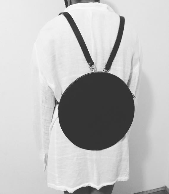 Circle Leather Backpack