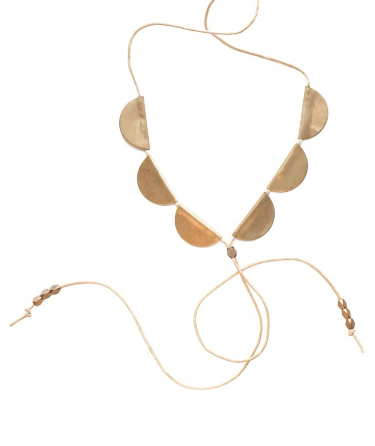 St Clair Brass Bolo Necklace