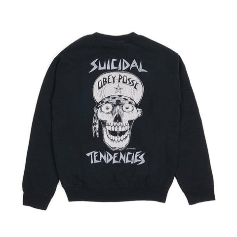 Obey Suicidal Tendencies Crew Black Small