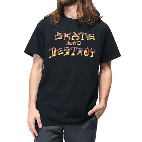 Thrasher Skate and Destroy BBQ Tee Black