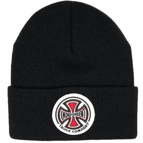 Independent T/C Patch Cross Beanie Black