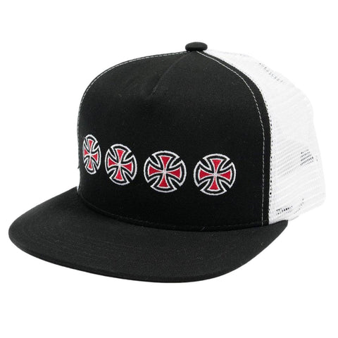 Independent Cross Sequent Trucker Cap Black
