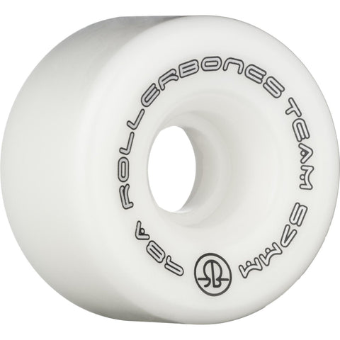 Rollerbones Team Logo Wheels 8 Pack White 57mm