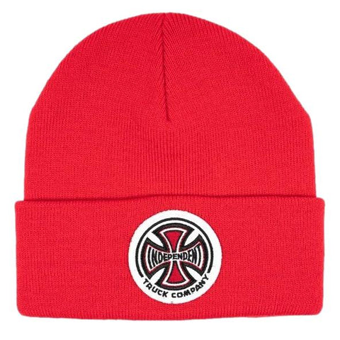 Independent T/C Patch Cross Beanie Chilli