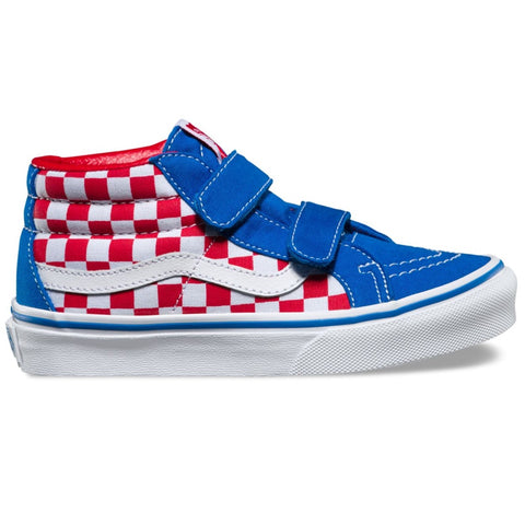 Vans Sk8-Mid Reissue V (Checkerboard) Racing Red