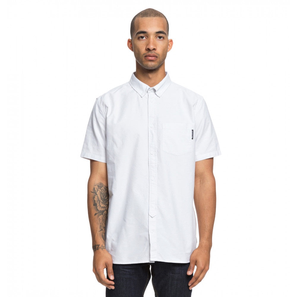 DC The Oxford Short Sleeve Shirt Light Blue