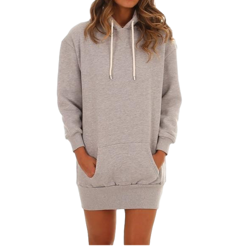 Zoo York College Hooded Dress Grey Heather