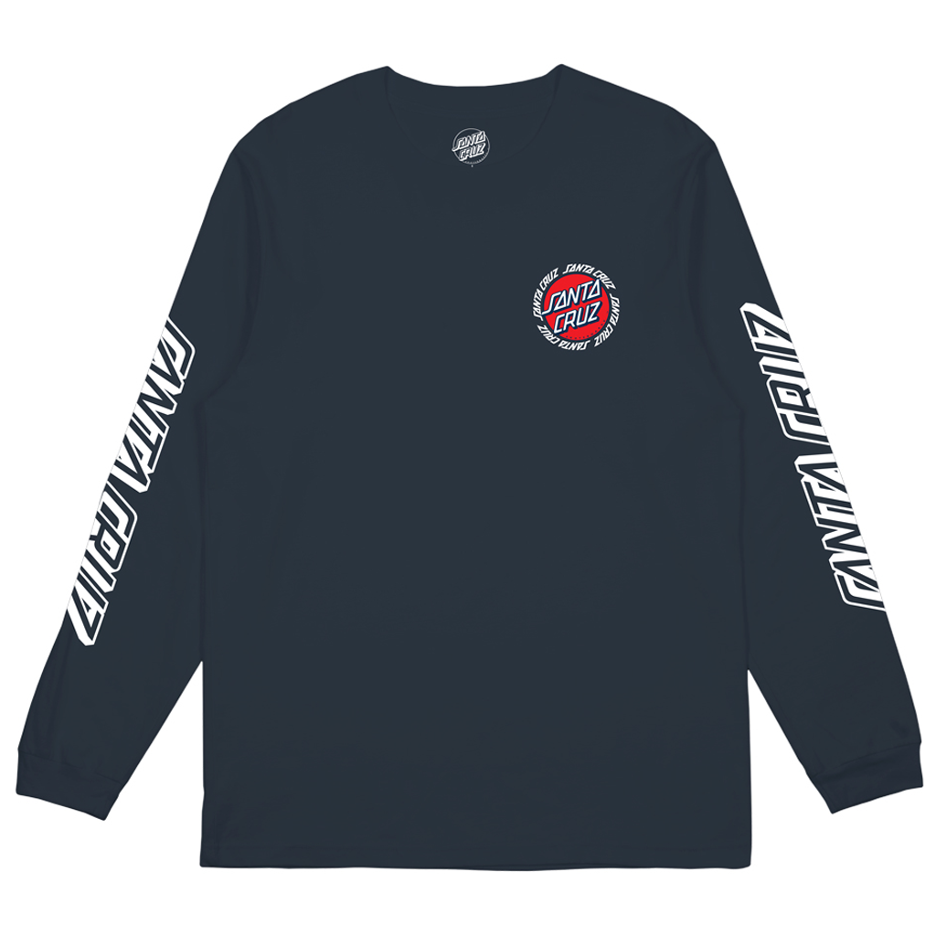 Santa Cruz Ringed Dot Long Sleeve Tee Navy
