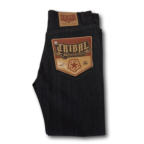 Tribal T-Star Slim Cut Black Denim