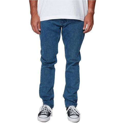 RVCA Daggers Mens Stretch Denim Mid Blue
