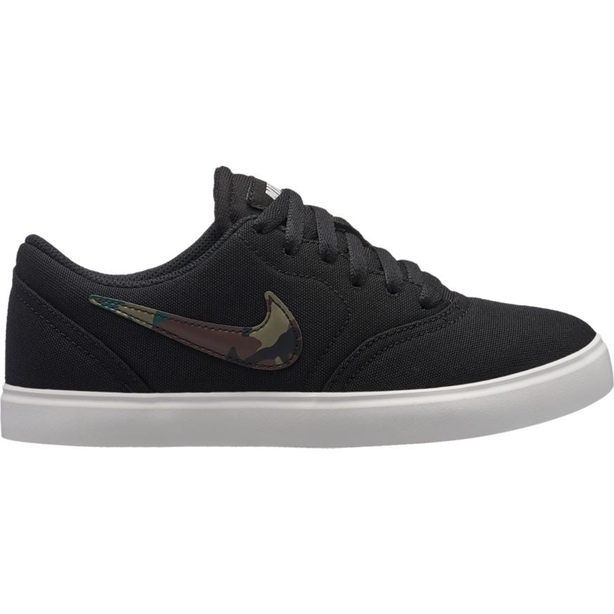 Nike SB Check Canvas (GS) Youth Shoe Black/Medium-Olive