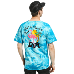 DGK Lost In Paradise Tee White / Turquoise Crystal