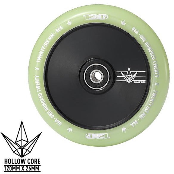 Envy Hollow Core Wheel Glow/Black 120mm