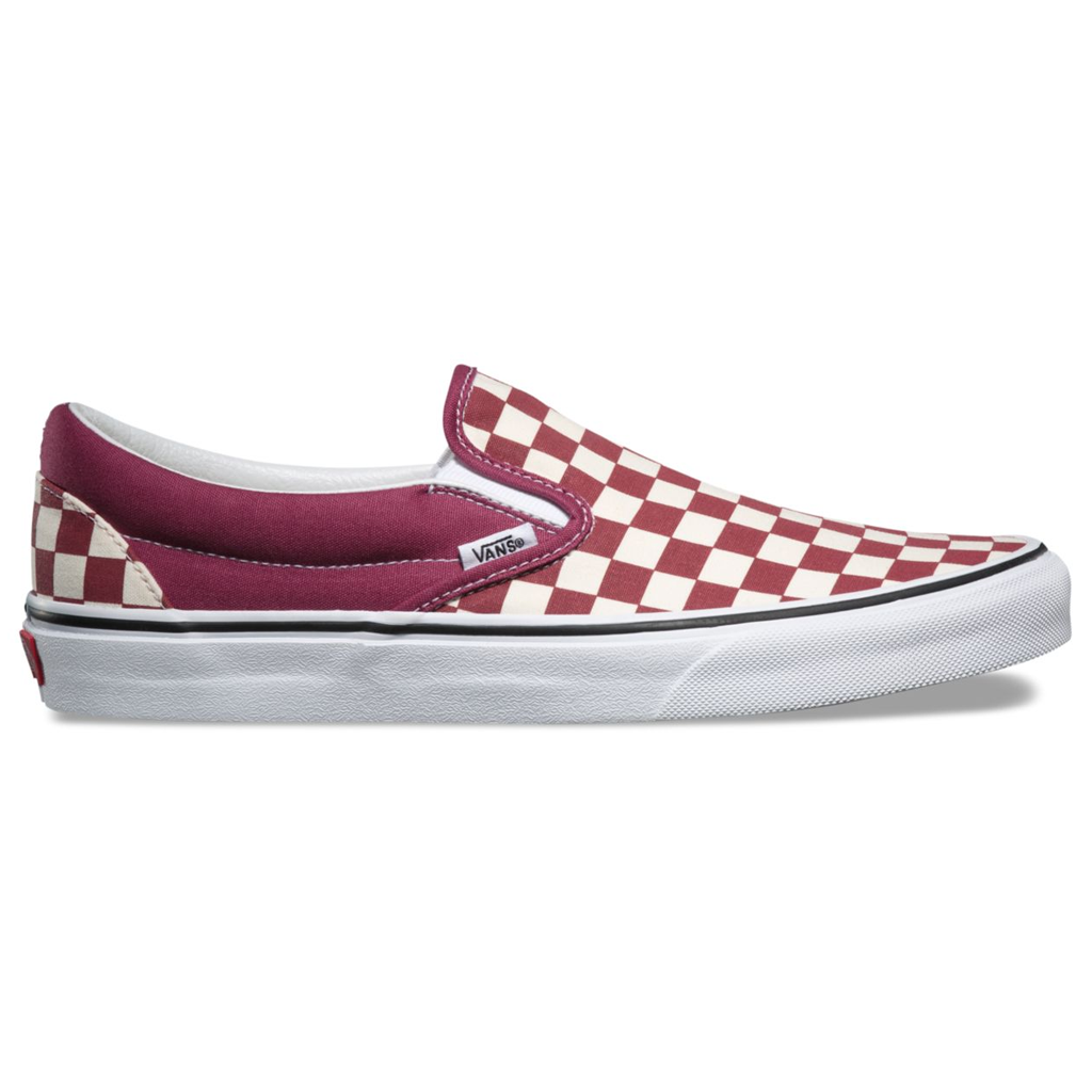 eec9d646c2d Vans Classic Slip-On (Checkerboard) Dry Rose