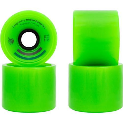 Bustin Boards Premier Wheels 70mm 78a Green 4 Pack