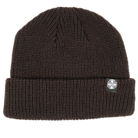 Indepedent Cross Wharfie Beanie Mocha