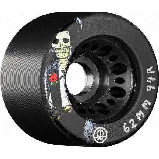 Rollerbones Wheels Speed Day of the Dead 62mm x 94A Black 4 Pack