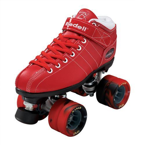Riedell Diablo Skate Red (Nylon Plate and Evo Wheels)