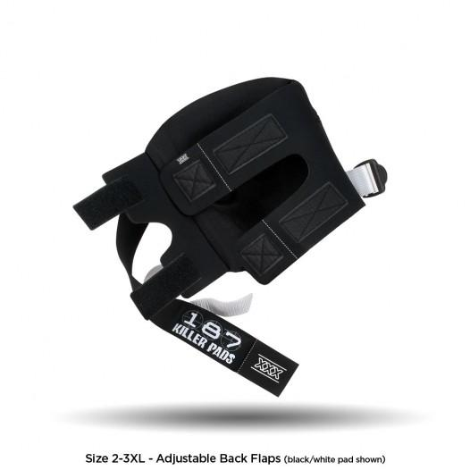 187 Pro Knee Black/White Strap