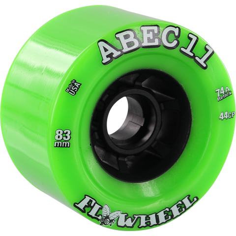 ABEC 11 Wheels Refly 83mm 74a Lime 4 Pack