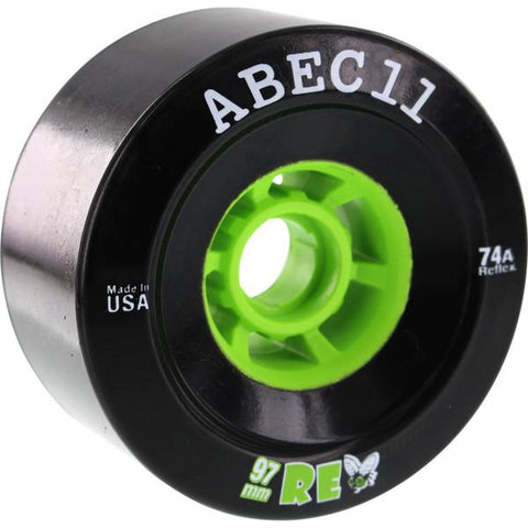 ABEC 11 Wheels Refly 97mm 74a Black 4 Pack