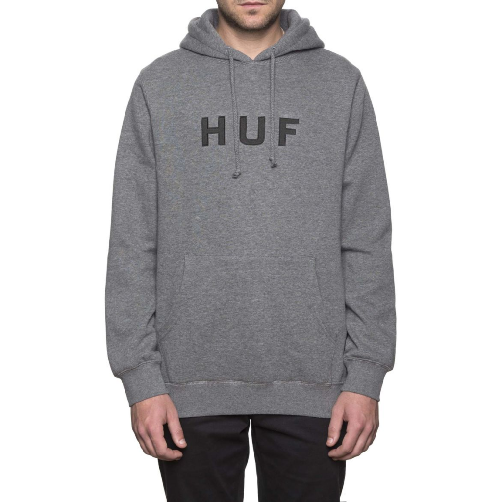 Huf Essentials OG Logo Hoody Grey Heather