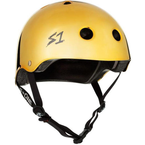 S-One Lifer Gold Mirror Helmet