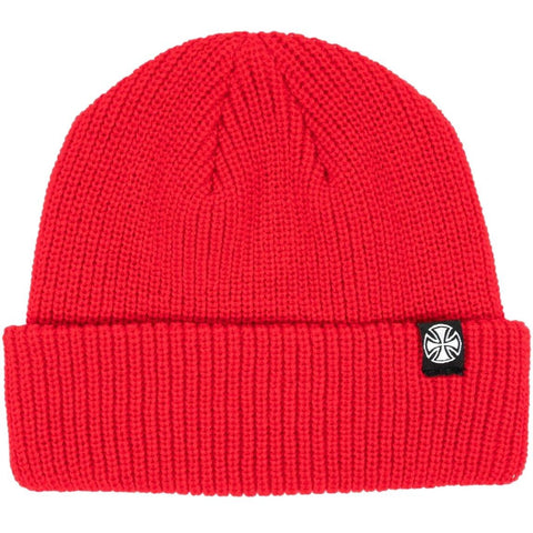 Independent Cross Wharfie Beanie Chilli