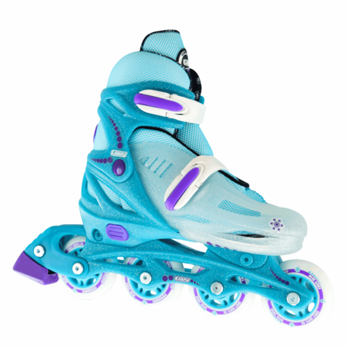 Crazy Skate 148 Adjustable Inline Skate Teal Glitter Ice