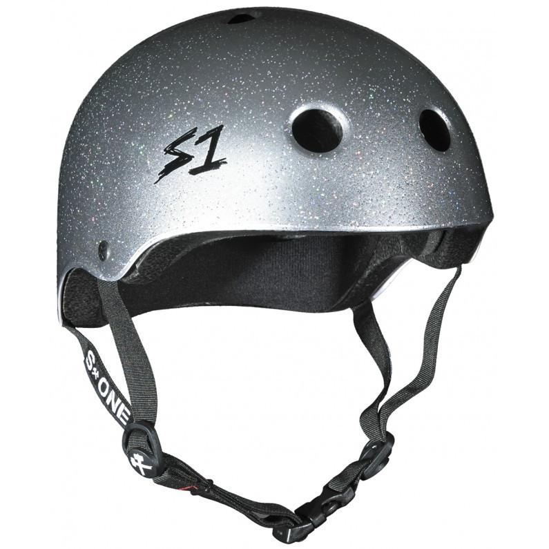 S-One Lifer Silver Glitter Helmet