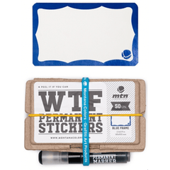 MTN WTF Stickers Set Blue Frame 50 units & Marker