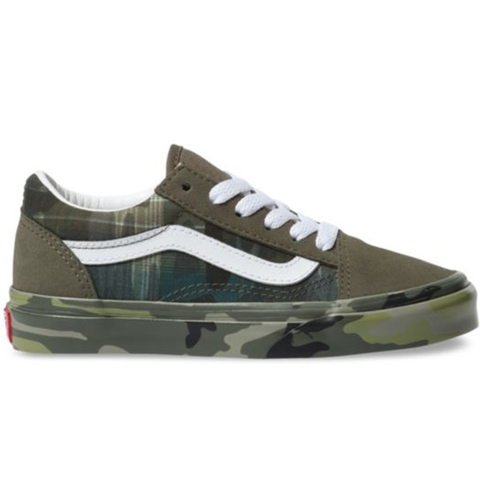 Vans Old Skool Youth Shoe Plaid Camo
