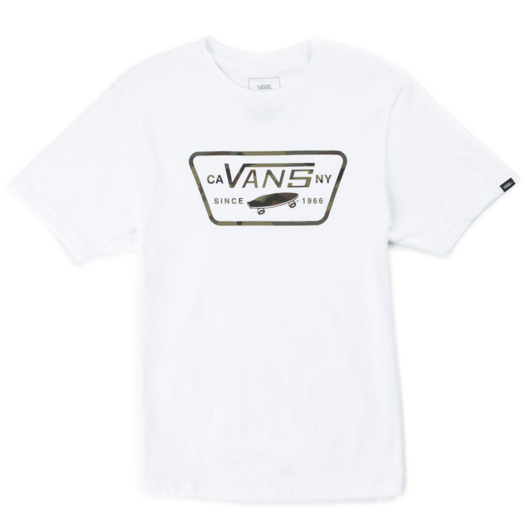 70b1b9e818 Vans Full Patch Fill Youth Tee White