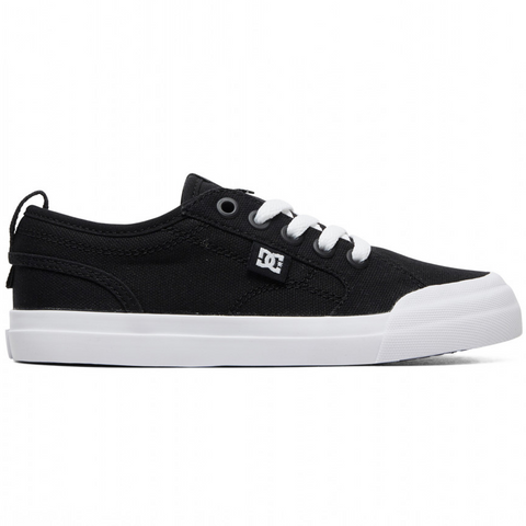 DC Evan TX Black/White Youth Shoe