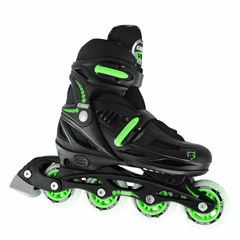 Crazy Skates 148 Adjustable Inline Skates Black/Green