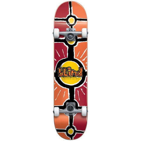 Blind Round Space Complete Skateboard 7.0 Red/Orange
