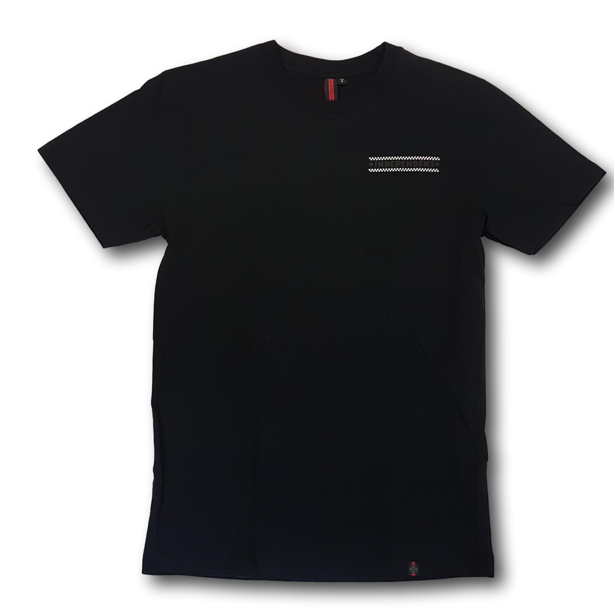 Independent Finishline Pocket Tee Black