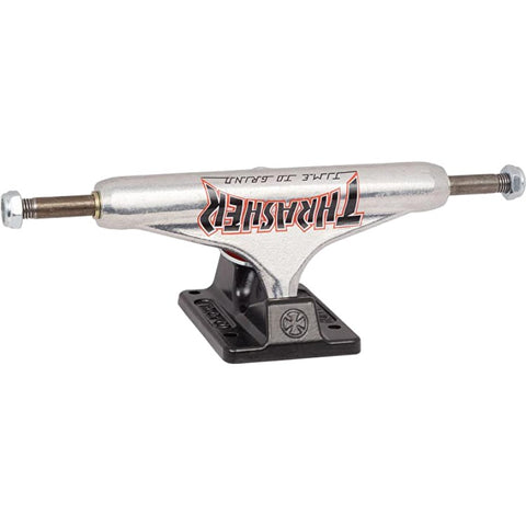 Independent x Thrasher TTG Trucks Silver/Black 149